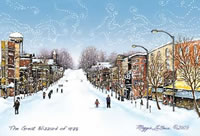 The Blizzard of 1978 Albion Michigan art