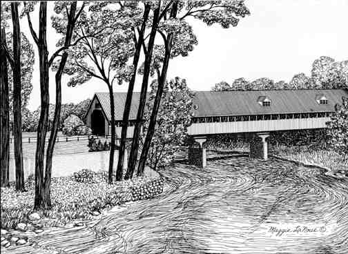 Covered Bridge Frankenmuth - Art by Maggie LaNoue