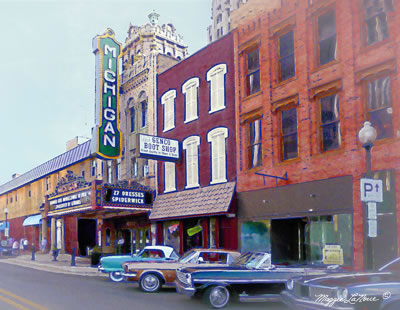 Michigan Theatre Jackson Michigan art by Maggie LaNoue